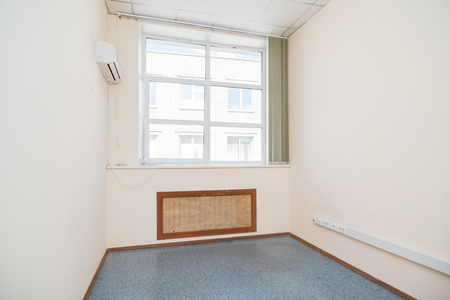 hall monitors: MOSCOW, RUSSIA - August 4, 2015 - Empty office interior Editorial