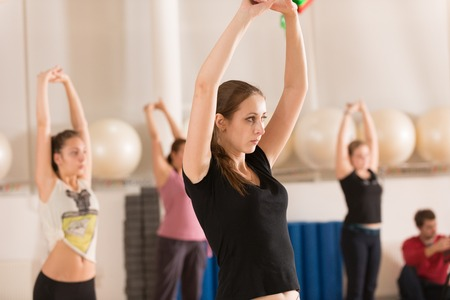 comely: MOSCOW, RUSSIA - December 13, 2012 - Dance class for women at fitness centre