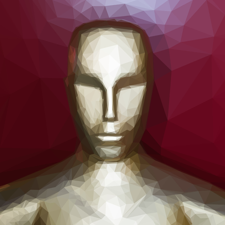 low prizes: Golden statue looking like oscar statuette vector illustration