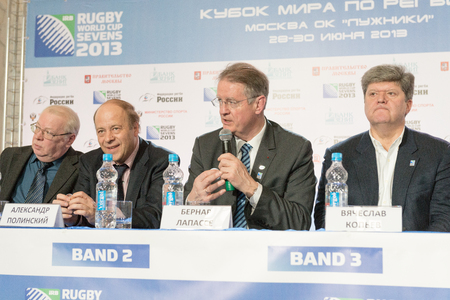 seeding: Moscow, Russia - February 28, 2013 - Rugby world cup Sevens seeding ceremony