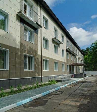 yuri: Zvyozdny gorodok, Russia - June 13, 2012 - Hospital building in Zvyozdny gorodok. Star City has since the 1960s been home to the Yuri Gagarin Cosmonaut Training Center