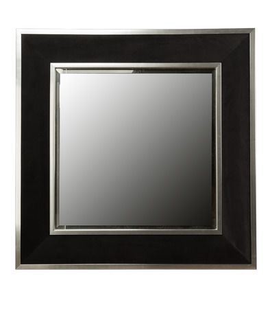mirror frame: Luxury mirror or empty picture frame isolated on white background