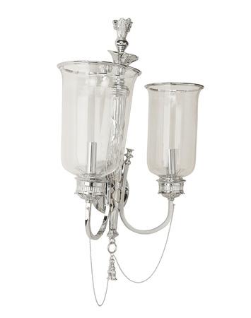 arredamento classico: lampada applique di lusso isolato isolato su sfondo bianco