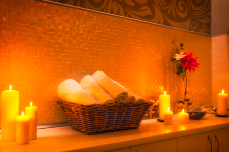 Spa Salon Decoration Detail Stock Photo, Picture And Royalty Free