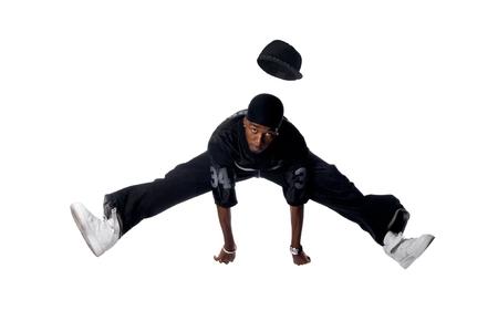 Cool joven hip-hop hombre sobre fondo blanco