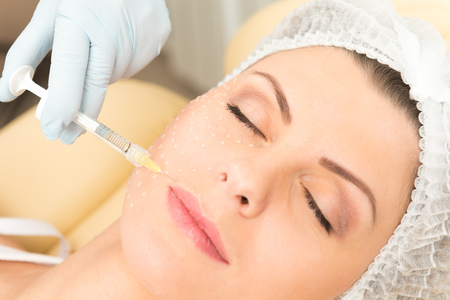 Cosmetic injection closeup