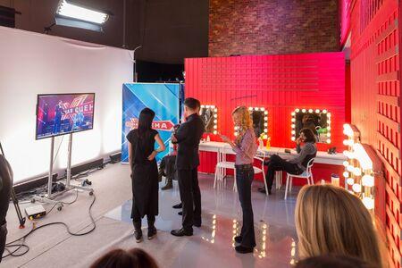 TV show filming backstage 版權商用圖片 - 137507979