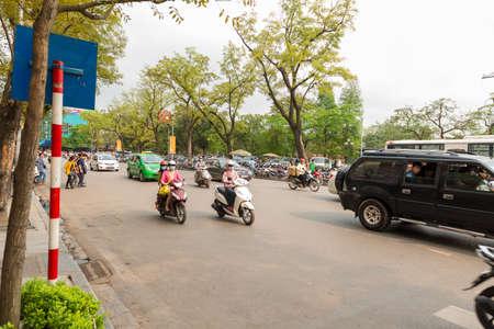 Hanoi city traffic 写真素材