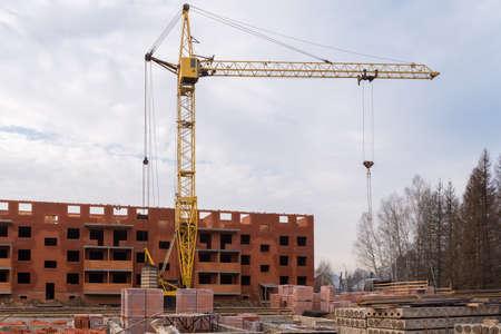 Construction site at winter 免版税图像
