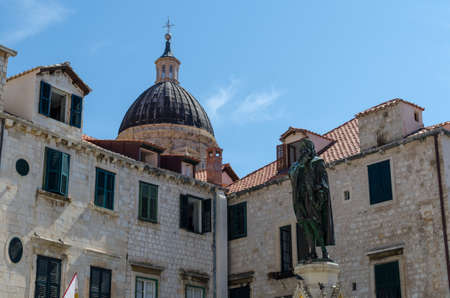 Facades of old town Dubrovnik Stockfoto