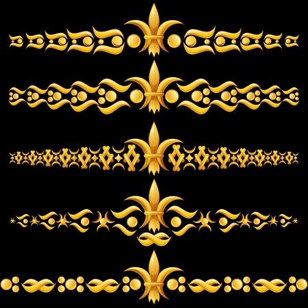 Golden verdelers met fleur-de-lis Stock Illustratie