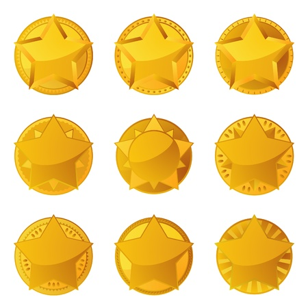 Golden stars with copy space Stock Vector - 12492805