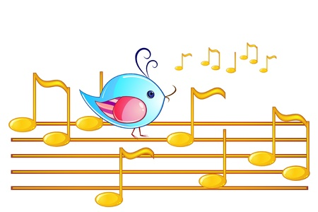 song bird: Golden note stuff with some melody and singing bird