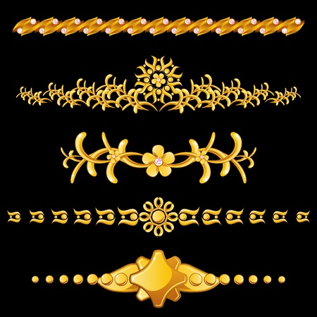 Set of gold dividers Stock Vector - 12965393