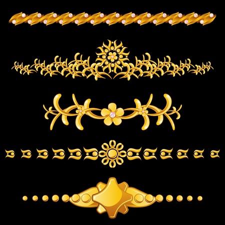 separator: Set of gold dividers