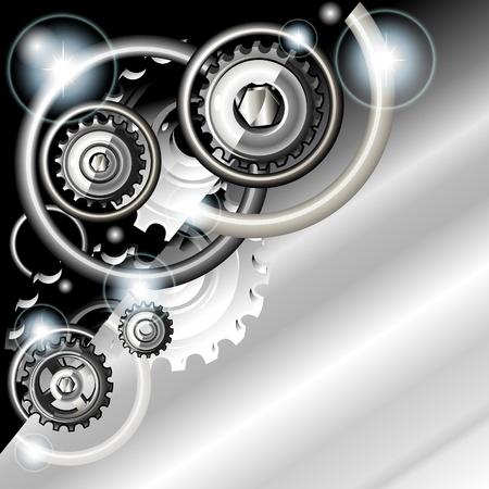 tornillos: Resumen de fondo tecno con engranajes