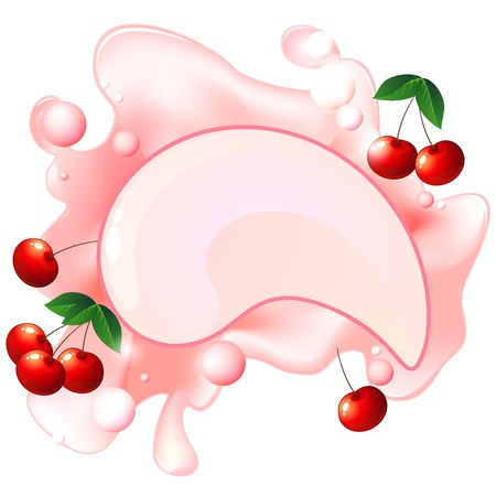 milkshake: Pink splash with cherry fruit and bubbles