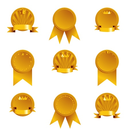 Golden medals Stock Vector - 14899884