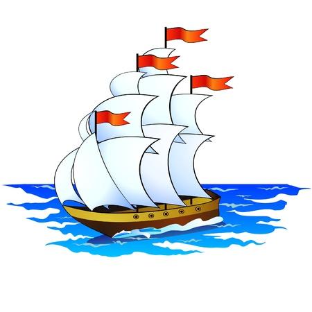corvette: Ship Illustration