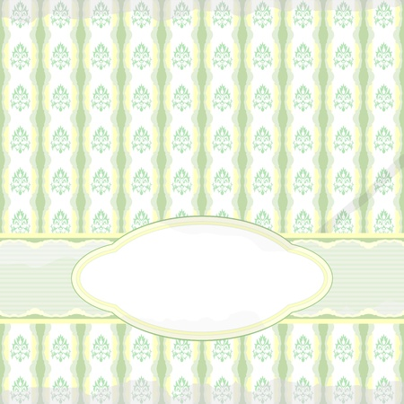 Pale green and yellow vintage background with spots