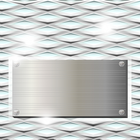 Gray metal plate over texture of ribbed glass Stock Vector - 15899861