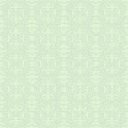 fanciful: Pale green seamless background with floral elements Illustration