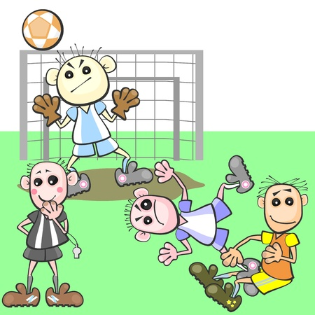 pay attention: Football referee does not pay attention on breaking rules Illustration