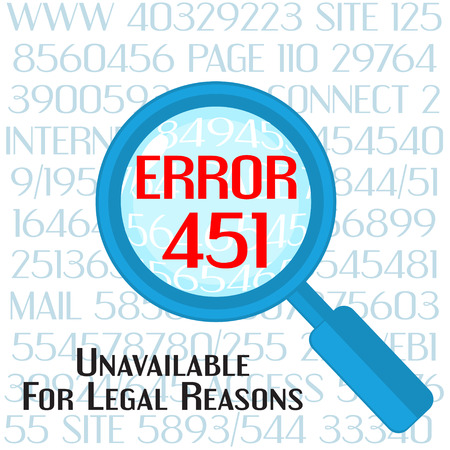 interdict: Concept of unavailable for legal reason error message with lens