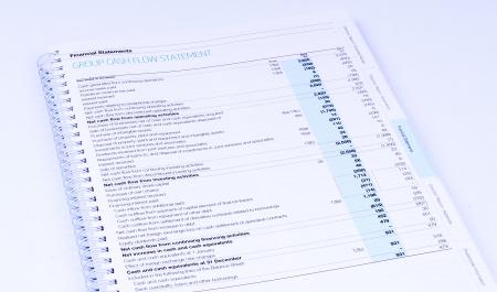 cash flow statement: cash flow statement on white background
