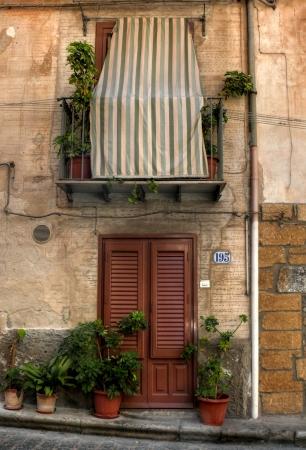sicilian: Sicilian home, Cefalu, Sicily Editorial