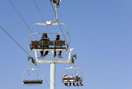 chair lift: Chair Lift in a Ski Resort