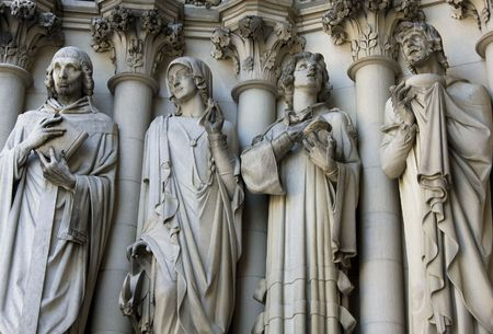 penitence: Detail of th Architecture of the Cathedral Church of Saint John the Divine