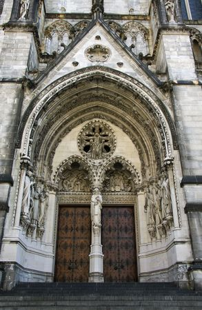 The Cathedral Church of Saint John the Divine in New York city photo