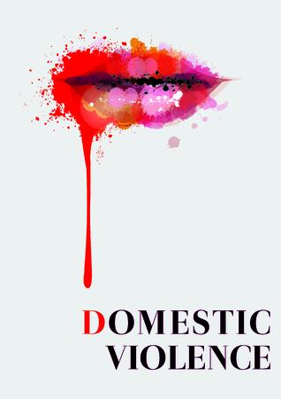 Against the violence of gender, Abuse against women. Illustration