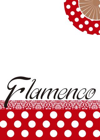 フラメンコポスター、フォークスペイン舞踊。  イラスト・ベクター素材