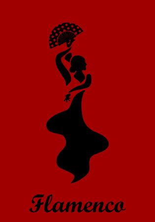 Flamenco woman poster. Traditional Spanish dance.