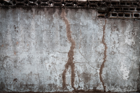 gritty: A considerably weathered and decayed blank wall.