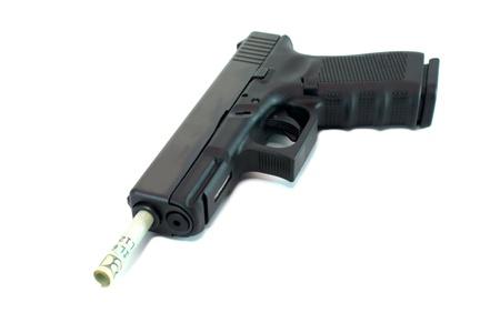 9mm concept image with money Stock Photo