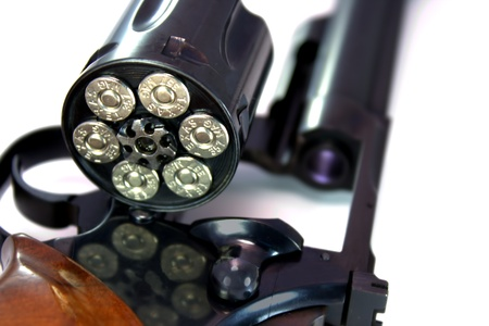 Close up of a loaded  357 magnum revolver photo