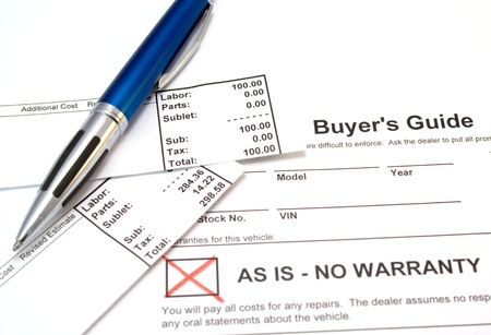 Buyers guide with car repair receipts
