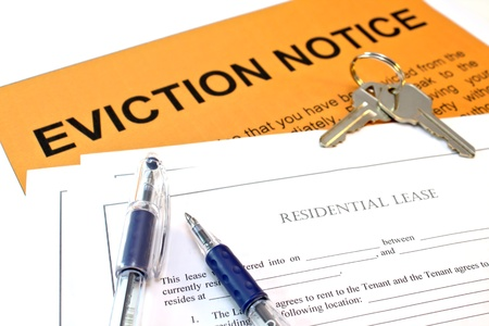 eviction: Eviction notice with new lease and keys