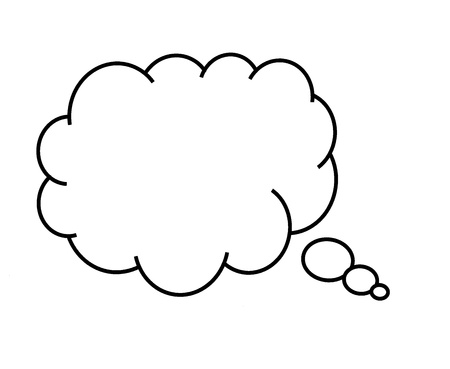 call out: Blank call out cloud for thoughts