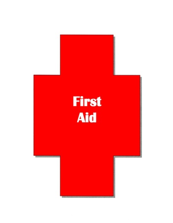 first aid sign: First aid sign on white background Stock Photo