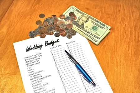 money matters: Concept image saving for a wedding
