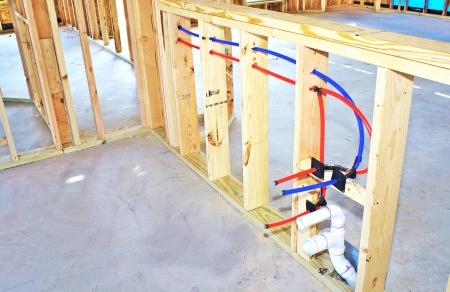 Framework in new construction kitchen area Zdjęcie Seryjne
