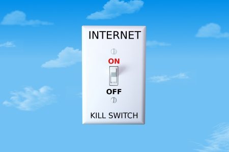 Concept image for an internet kill switch