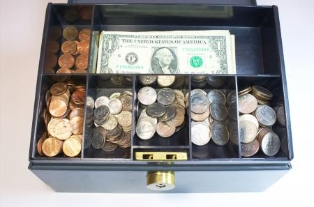 Cash drawer lock box safe