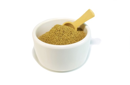 Small container with cumin spice for cooking Stock Photo
