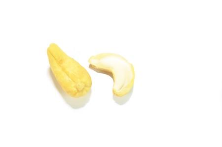 Two cashews isolated on white Zdjęcie Seryjne