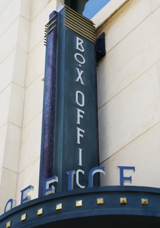 Classic ticket box office sign